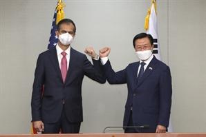 """韓 """"종전선언 '한미 공조""""제안에 美 """"북한 도전 맞서야"""" 싸늘"""