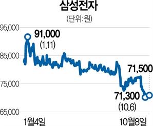 """""""D램값 하락 리스크 선반영""""…삼성전자, 바닥 다지기 끝났나"""