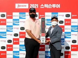 """[포토]스릭슨 포인트 1위 정찬민 """"내년 정규투어 입성"""""""