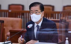 """정의용 """"북한이 대화에 응하면 제재 완화 검토도 가능"""""""