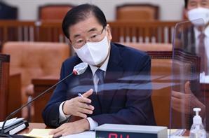 """정의용 """"文 안보는 힘 바탕의 평화…北 SLBM, 우리 군이 방어 가능"""""""