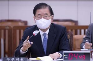"""정의용 """"남북 군사공동위서 이중기준 철회 논의할 수 있어"""""""