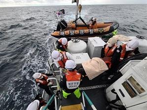 울산 해상 어선에서 선원 로프에 맞아 호흡 곤란…해경이 구조