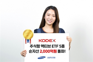 """""""액티브ETF도 업계 1위""""…삼성운용, 액티브ETF 순자산 2,000억 돌파"""